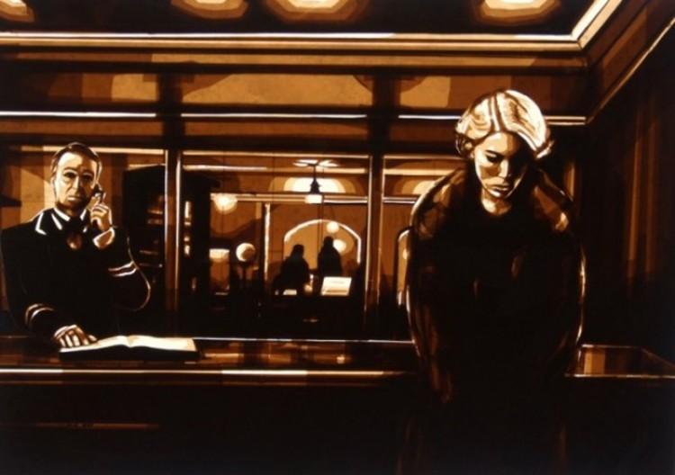 Oszałamiające obrazy z taśmy klejącej Maxa Zorna.
