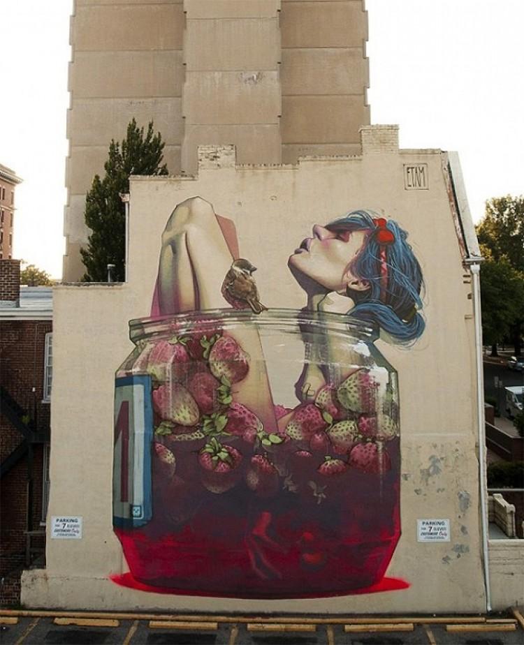Graffiti Ulica Richmond, Stany Zjednoczone.