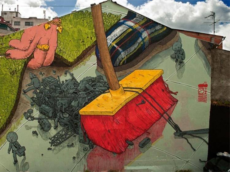 Street art hiszpańskiego artysty Liqen.