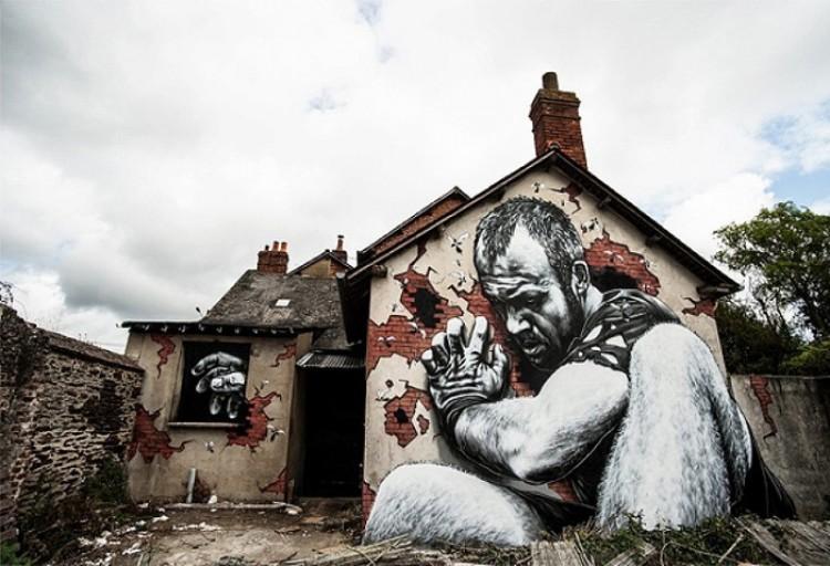 Złap mnie, jeśli potrafisz. Graffiti na ulicach Francji.