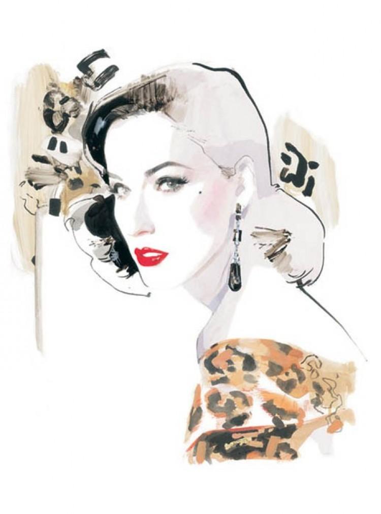 Oszałamiające ilustracje mody ot Davida Downton.