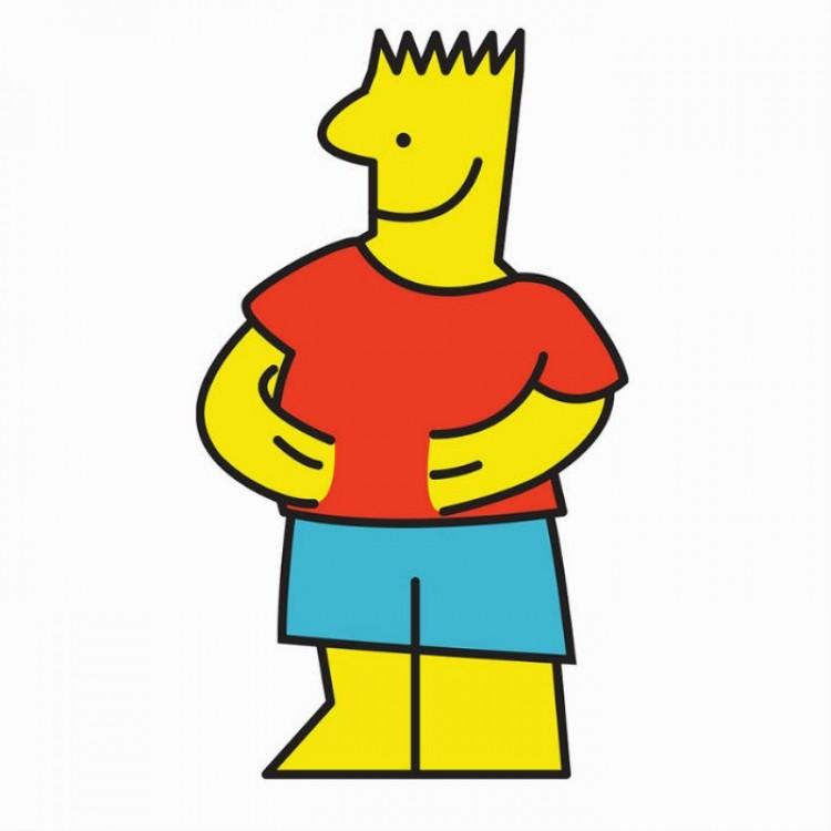 IKEA Man w połączeniu z Bartem Simpsonem.