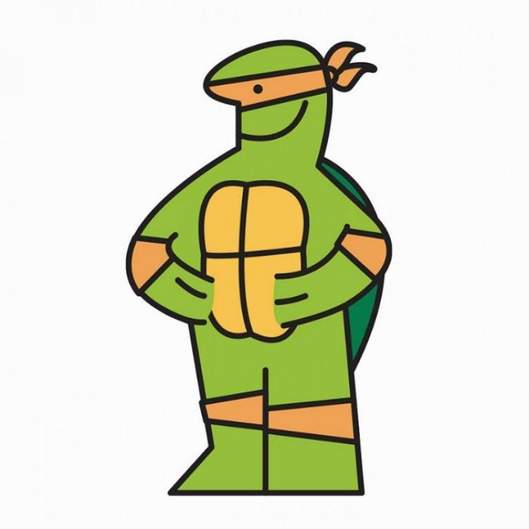 IKEA Man jako żółw nindzia.