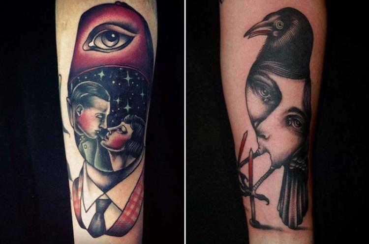 Tattoow  stylu surrealizmu.