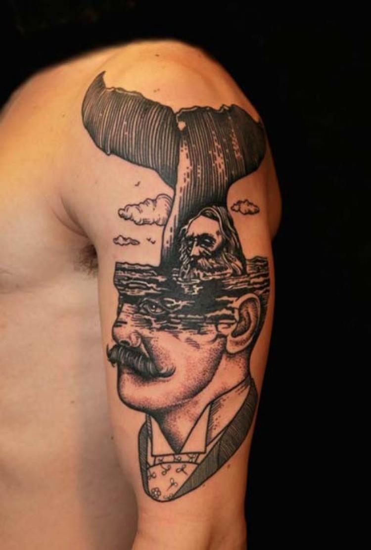 Tatuaże autorstwa włoskiego artysty.