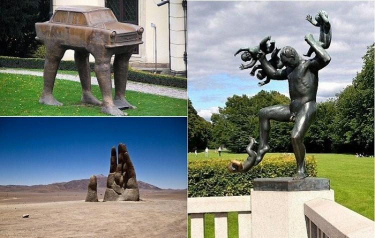 Najdziwniejsze i najbardziej kreatywne pomniki.