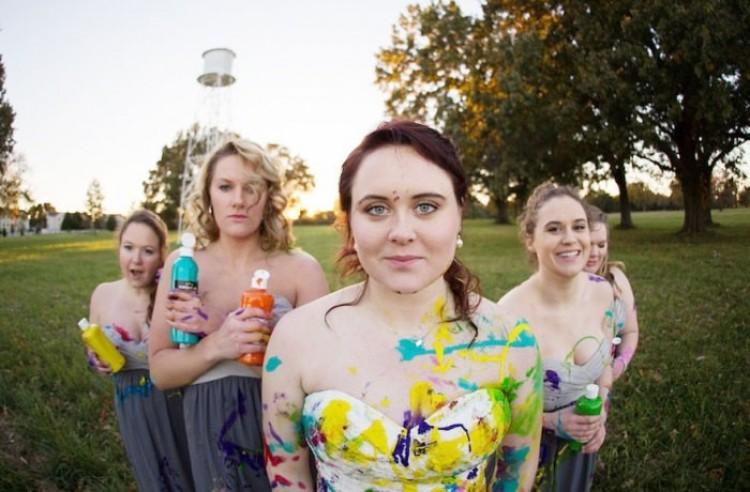 Ślubna sesja zdjęciowa.