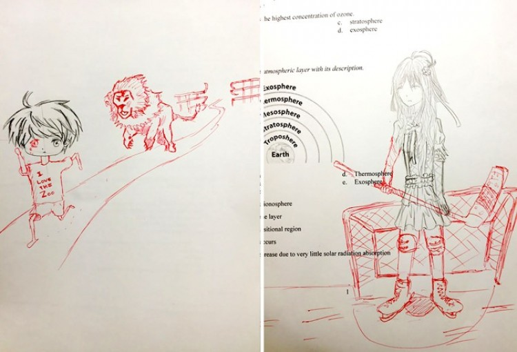 Rysunek na marginesie. Studenci vs. nauczyciel.