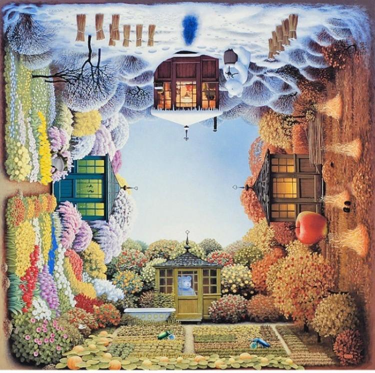 Surrealistyczne obrazy Jacka Yerki