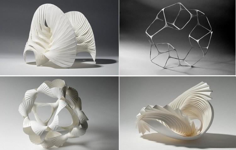 Papierowa sztuka: niesamowite trójwymiarowe figury, wykonane ręcznie.