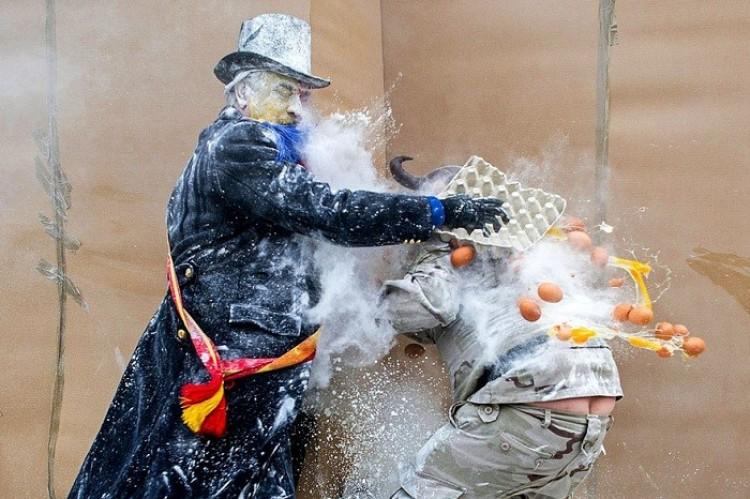 Bitwa na mąki jajka (Hiszpanija).