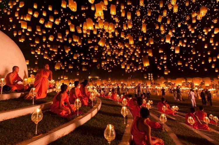 Yi Peng Lantern Festival (Tajlandia).