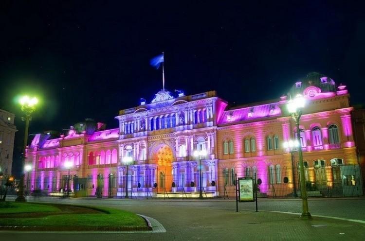Casa Rosada - siedziba prezydenta Argentyny.
