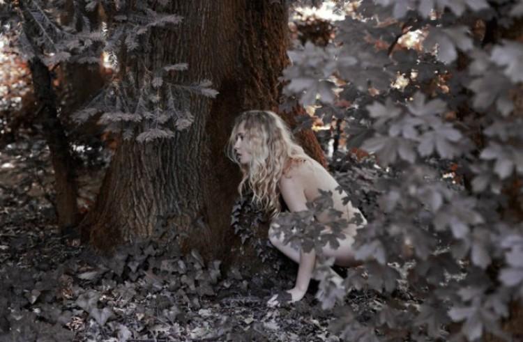 Wśród liści drzew. Marta Bevacqua.