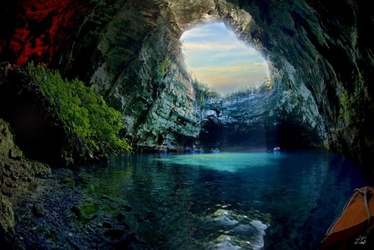 Jaskinia Melissanina  wyspie Kefalinia, Grecja