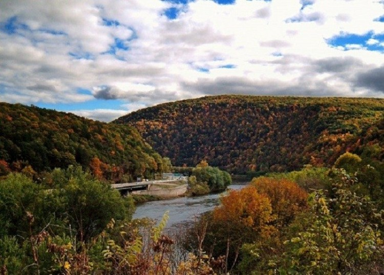 Delaware Water Gap. New Jersey. Stany Zjednoczone