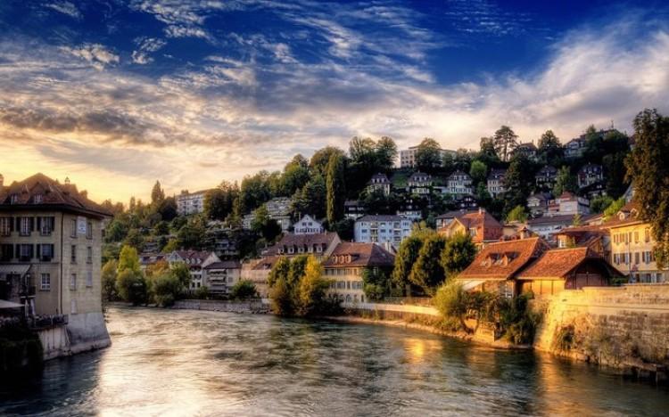 Najpiękniejsze miasto w starej Europie. Burno. Szwajcaria.