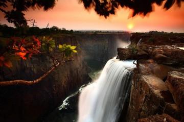 Wodospad Victoria, Zambia.