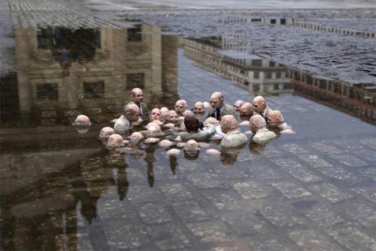Politycy omawiaja temat globalnego ocieplenia, Isaac Kordan, Berlin, Niemcy