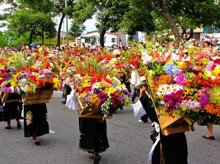 Pokaz kwiatów Desfile de Silleteros