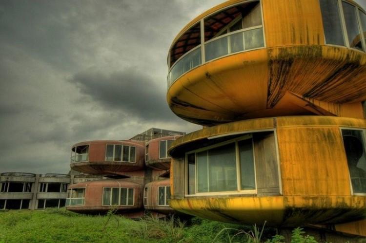 Domy UFO w dzielnicy Sanchzhi, Tajwan