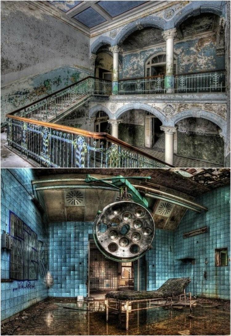 Opuszczona szpital wojskowy w Bielice, Niemcy