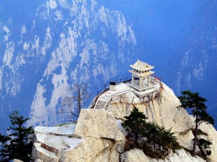 Szachowy pawilon, Huashan, Chiny.