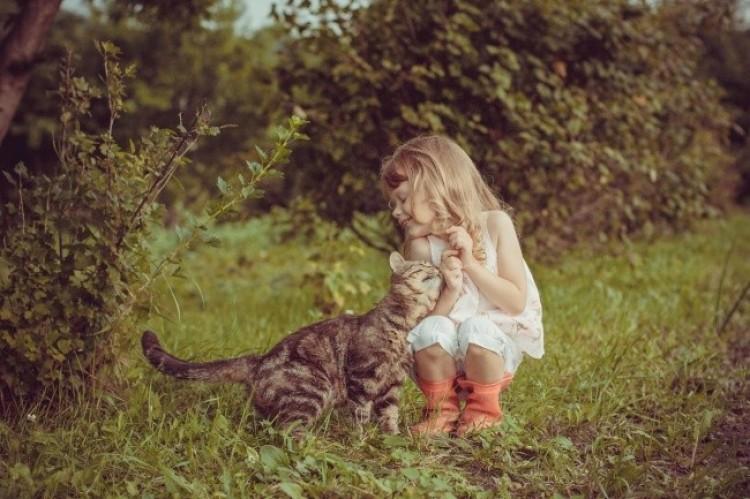Dowody na to, że dzieci potrzebują kotów.