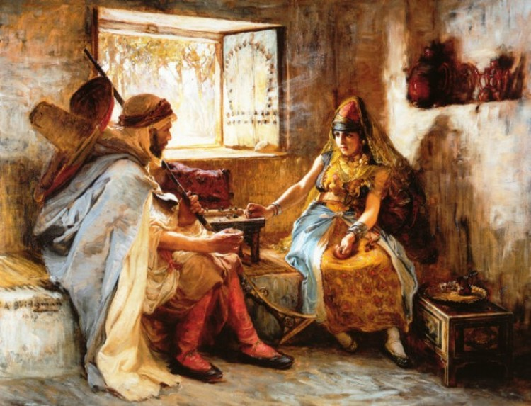 The Game Of Chance (gra hazardowa), Frederick Arthur Bridgman.