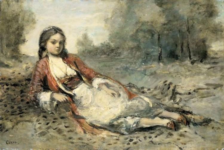 Corot Jean-Baptiste-Camille, Algerienne, 1871/73.