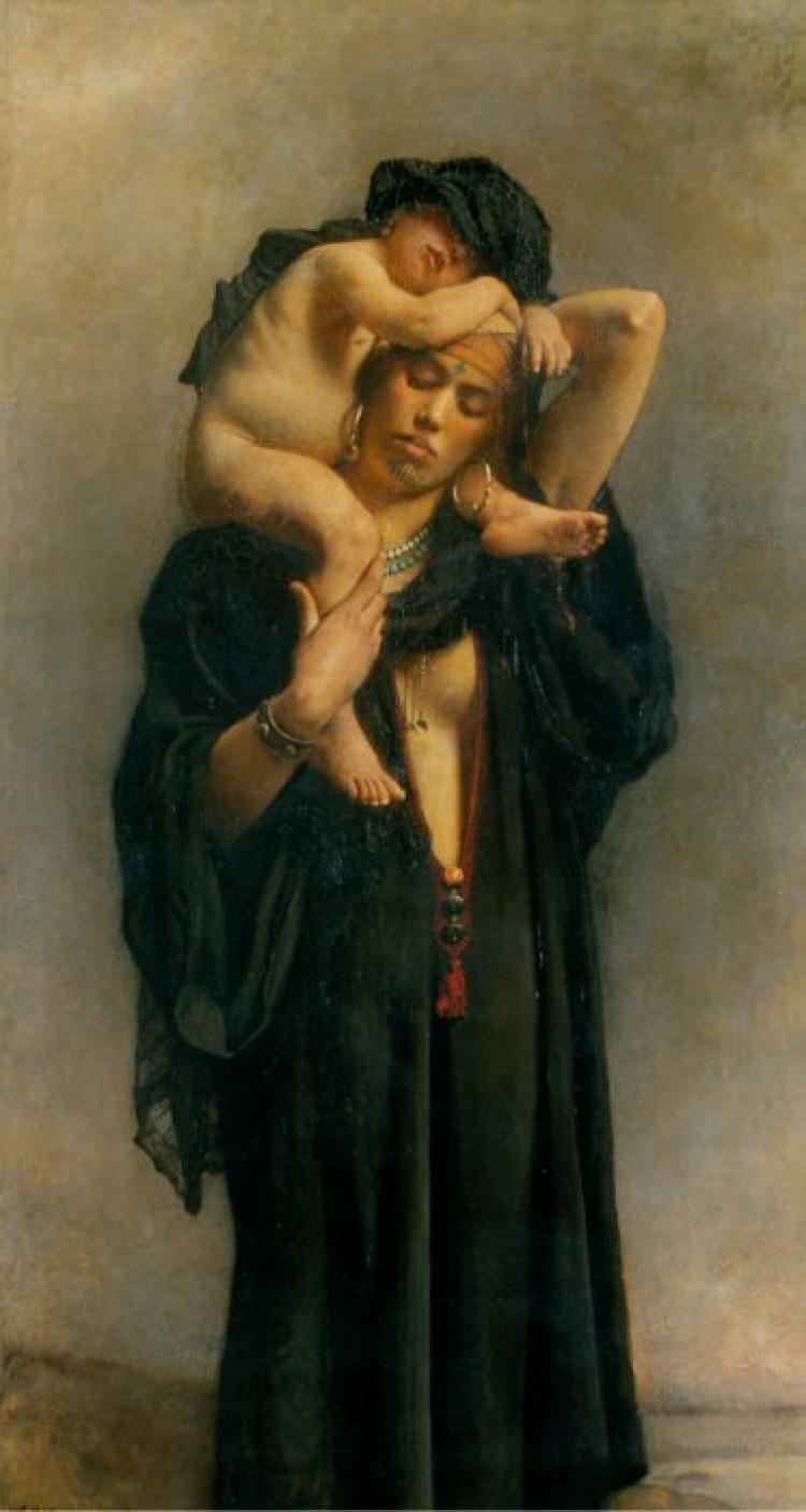 Leon Bonnat, (1833/22) egipska kobieta z dzieckiem.