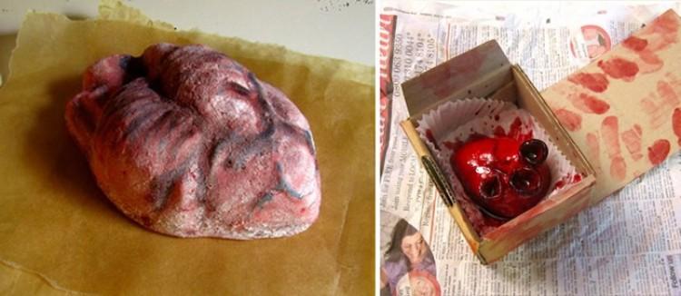 Weź moje serce: przerażające realistyczne torty nie dla wrażliwych.
