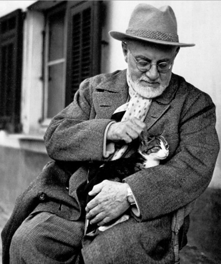 Henri Matisse ze swoim ukochanym kotem Minushe
