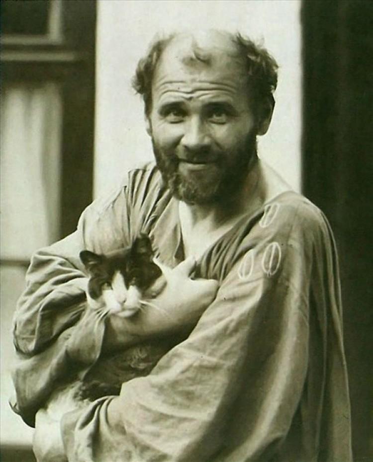 Gustav Klimt i jego ukochany Katze