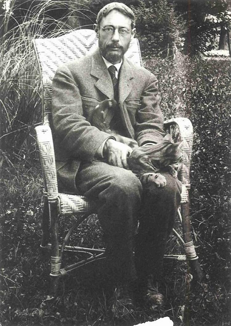 Pierre Bonnard z kotem