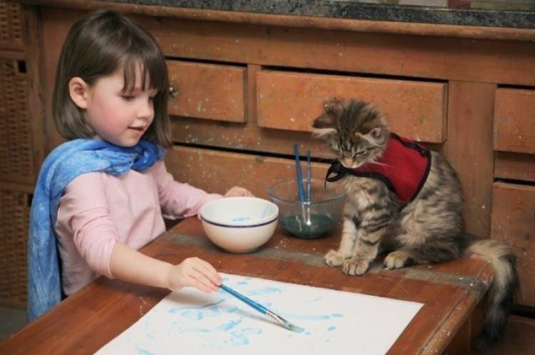 Asystent młodego malarza.