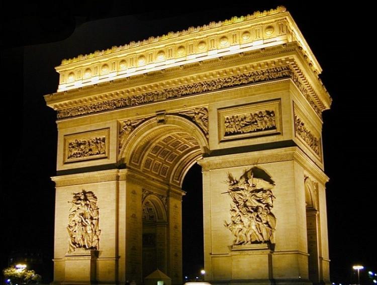 Łuk Triumfalny. Paryż. Francja