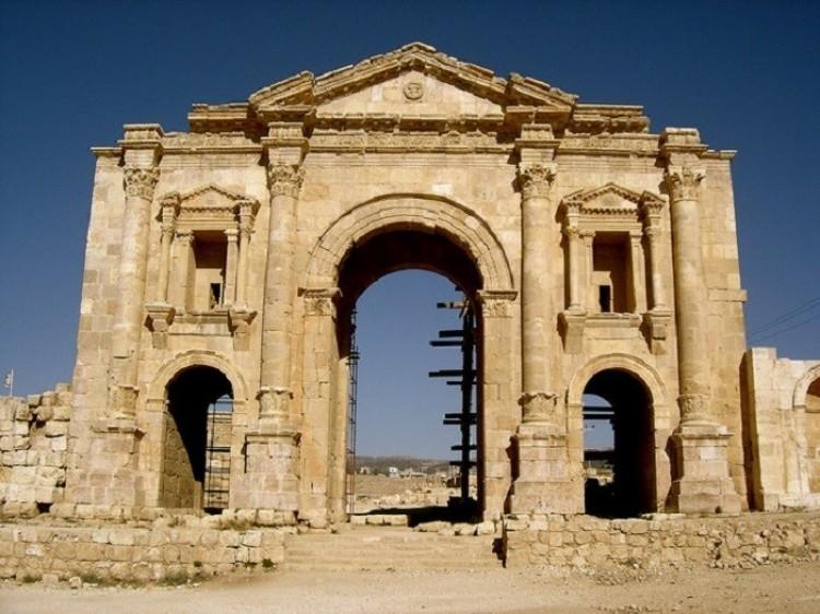Łuk Hadriana. Jerash. Jordania