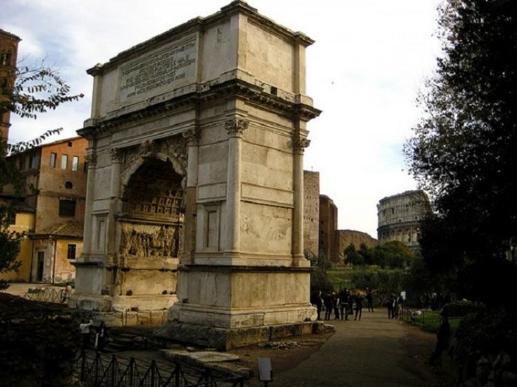 Łuk Tytusa. Rzym. Włochy