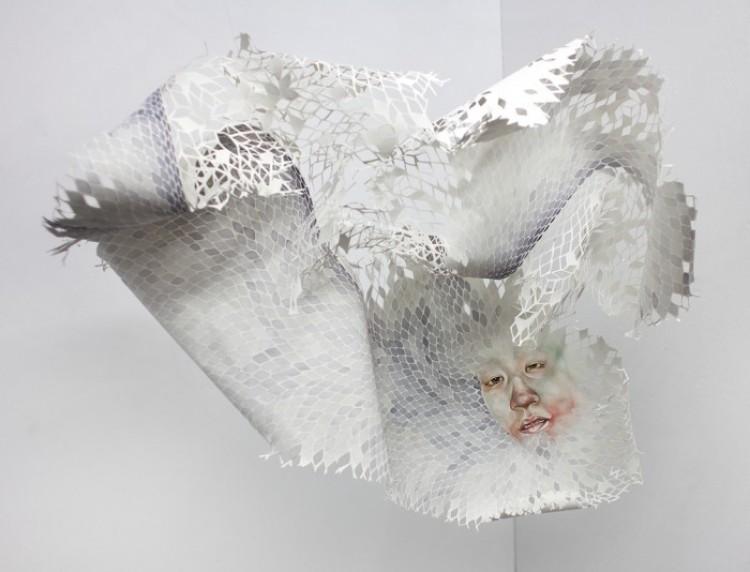 Obraz na papierowej serwetce. Timothy Hyunsoo Lee.