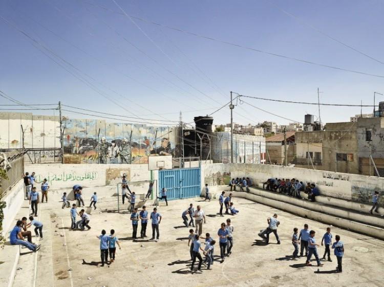 Aida - szkoła dla chłopców w  Betlejem, na zachodnim brzegu rzeki Jordanii.