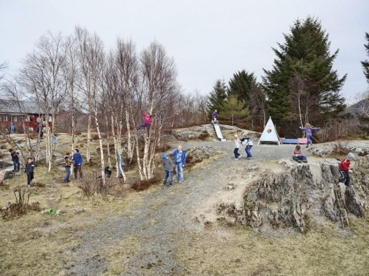Szkoła podstawowa, Korvog, Norwegia.