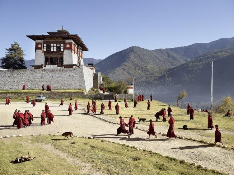 Klasztor Dechen Phodrang, Thimphu, Bhutan.