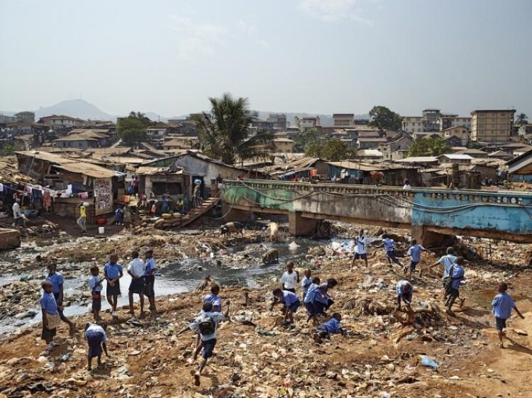 Szkoła średnia, Freetown, Sierra - Leone.