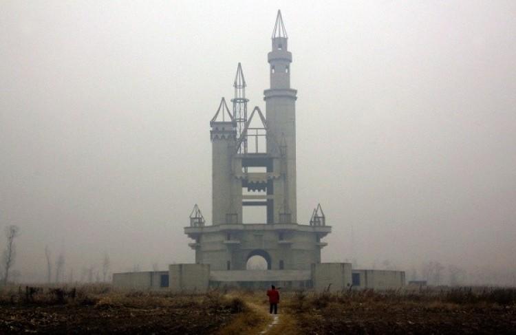 Opuszczony park rozrywki w pobliżu Pekinu