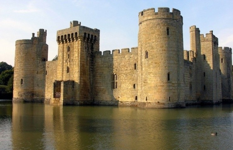 Zamek Bodiam w East Sussex, Anglia