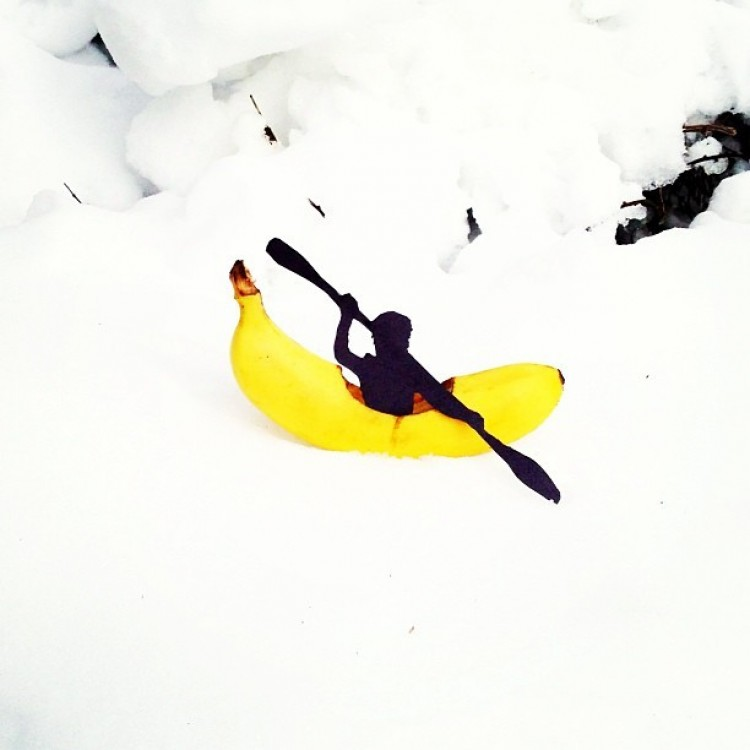Bananowy kajak