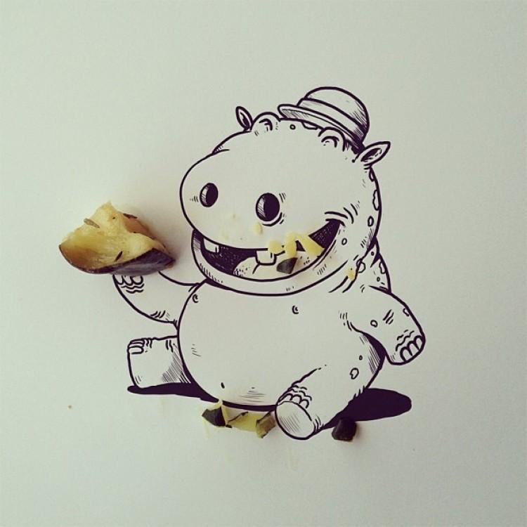Głodny gippopotamchik