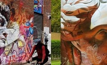 Harmonia między klasyką i sztuką ulicy: mitologiczni bohaterowie na murach miasta.