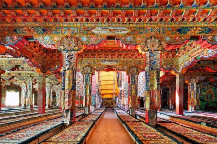 Świątynia w Darjay Gompa, zachodniej prowincji Syczuan w Chinach.